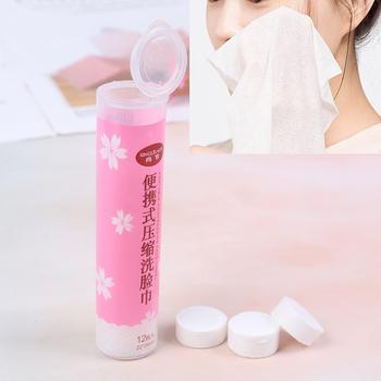 12 sztuk pudło spunlacked włóknina na zewnątrz podróży skompresowany bawełniany ręcznik jednorazowy tabletki kapsułki ściereczki bibuła tanie i dobre opinie CN (pochodzenie) Tkanki twarzy