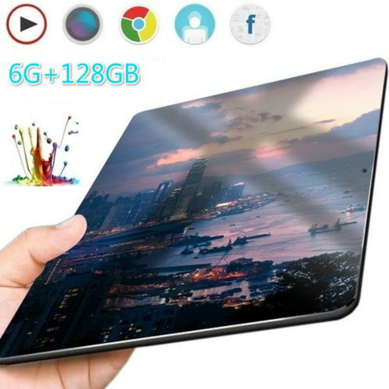 2020 10 Inch Ten Core 6GB+128G Arge Android 8.1 WiFi Tablet PC Dual SIM Dual Camera  Bluetooth  4G WiFi Call Phone Tablet Gifts
