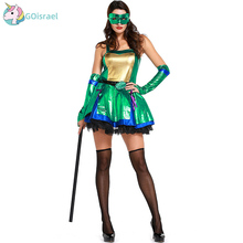 Halloween Women's Warrior Suit Green Ninja Turtles Cosplay Costume Export Halloween Costume Modern Dance Dress полуботинки tm ninja turtles для мальчика
