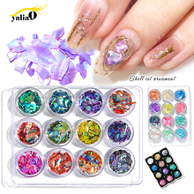 Get more info on the YALIAO Nail Art Decorations 12pcs Mixed Colors Crushed Shell Glitter Irregular Crystal Manicure Diy Tool Flake Slider Slice