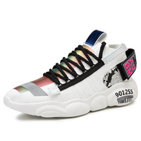 2019 spring and autumn new bear bottom trend fashion wild breathable flying woven sneakers casual shoes four seasons