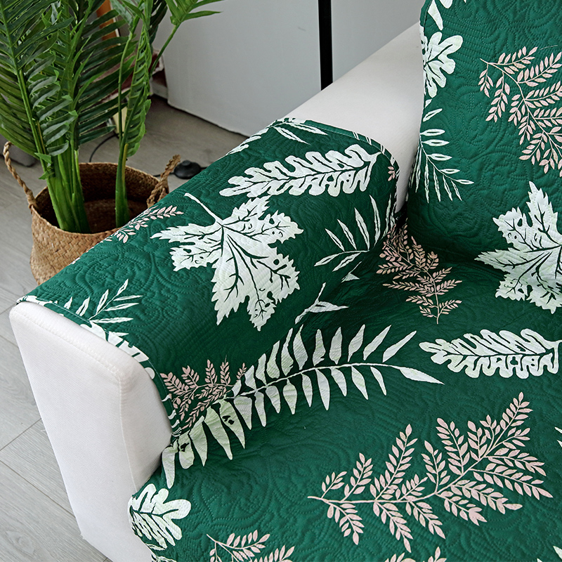 Image 5 - Embossing Process Modern Couch Cover Sofa Towel  Leaves Print  Removable Armrest Slipcovers Pet Dog Kids Mat Furniture ProtectorSofa  Cover