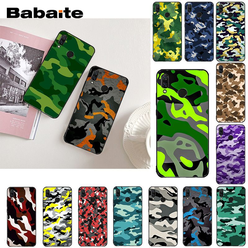 Babaite Armee Grün Camouflage Telefon Fall für <font><b>Xiaomi</b></font> Redmi8 <font><b>4X</b></font> 6A S2 7A 5 5Plus Note4 Note5 5A 7 8 Pro image
