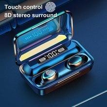 TWS Bluetooth 5.0 słuchawki 1200mAh etui z funkcją ładowania słuchawki bezprzewodowe 9D Stereo sport wodoodporne słuchawki douszne słuchawki z mikrofonem
