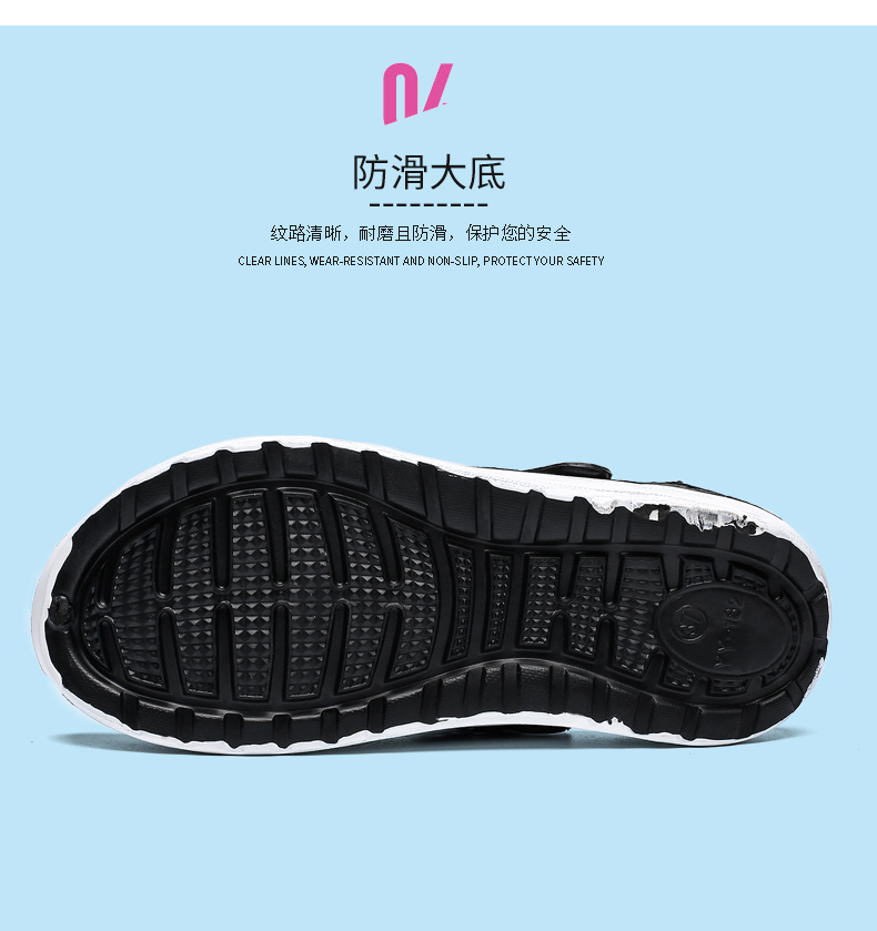 Ha4ff41d8fbb5407fa8811964ceff6b19P - Summer Beach Sandals Lightweight Lovers Garden Shoes Non-slip Water Shoes Men White Slippers Clogs For Women Size 36-45