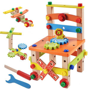 Wooden Toy Chair-Tool Montessori-Toys Combination Assembling Preschool Nut Variety
