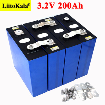 Liitokala 3.2V 200Ah LiFePO4 lithium battery 3.2v 3C Lithium iron phosphate battery for 12V 24V battery inverter vehicle RV image