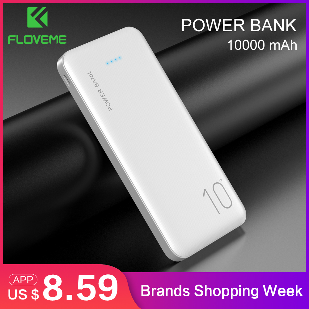 FLOVEME Portable Charger Power-Bank External-Battery Mobile Mi Xiaomi 10000mah Samsung