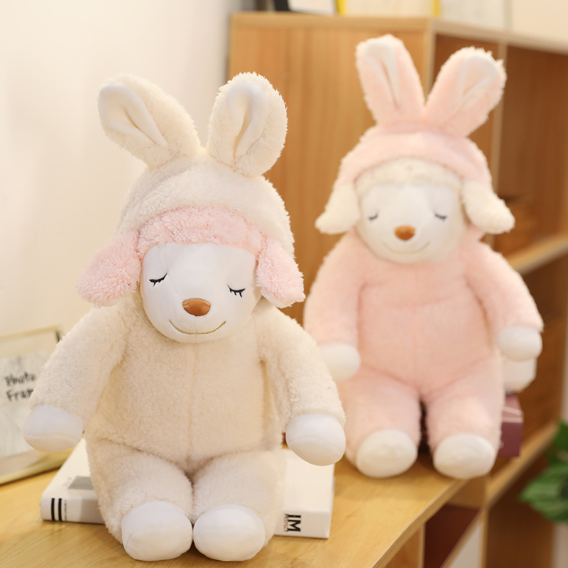 Soft Sheep Toys Stuffed Sleep Sheep Dolls For Kids Cute Animals Toys For Children Girls Pink Dolls For Birthday Gifts