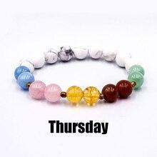 Day Time 7 Chakra Bracelet Women Natural Stone Bracelets Beads Healing Balance Buddha Yoga Mala Bangles For