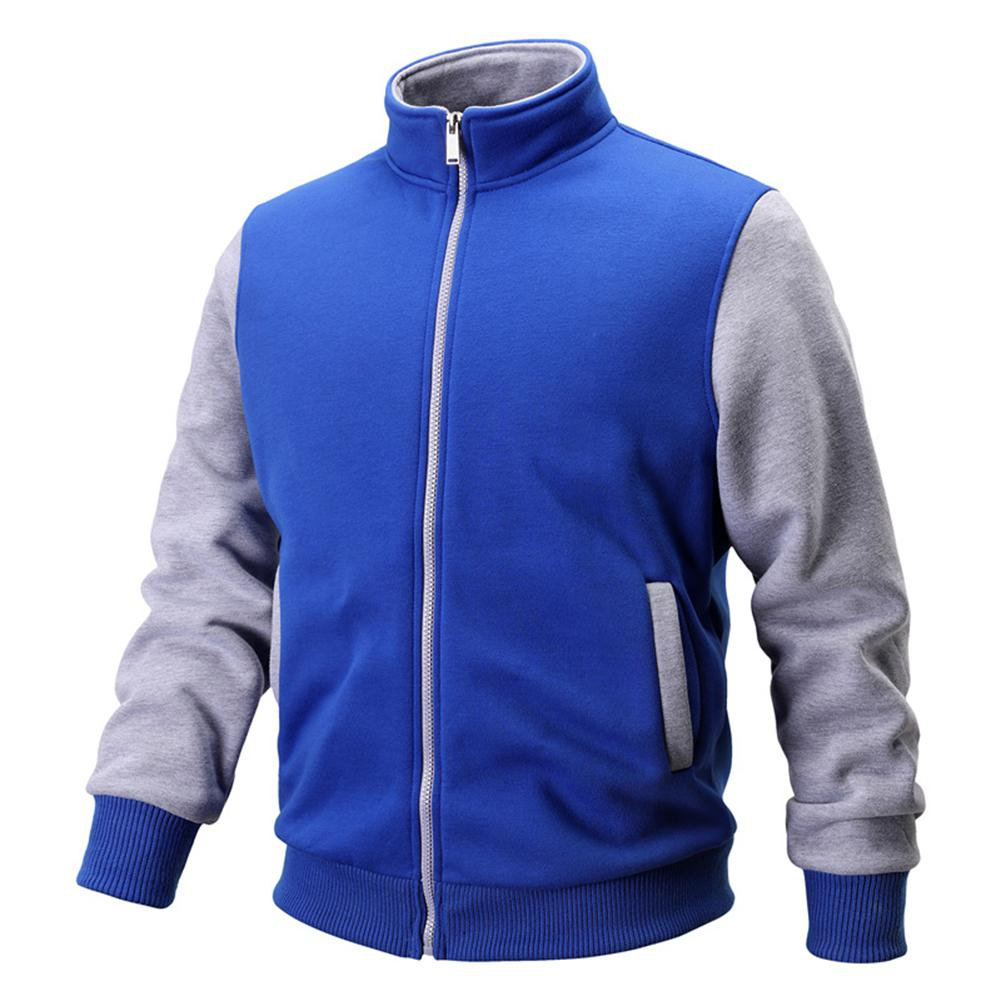 Men's Jacket Outwear Coat Sports-Sweater Outdoor Male Thick Casual Warm Faux Zipper Yiwa