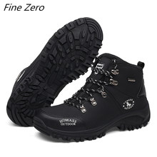 New Autumn Winter Men's Boots Outdoor Warm Waterproof Non-slip Ankle Snow Boots Thick Plush Rubber Winter Work Safety Male Shoes(China)
