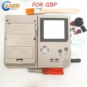 Image 1 - Szare etui na cały telefon obudowa na konsolę Gameboy Pocket na GBP szara obudowa Case przyciski podkładki gumowe śrubokręt