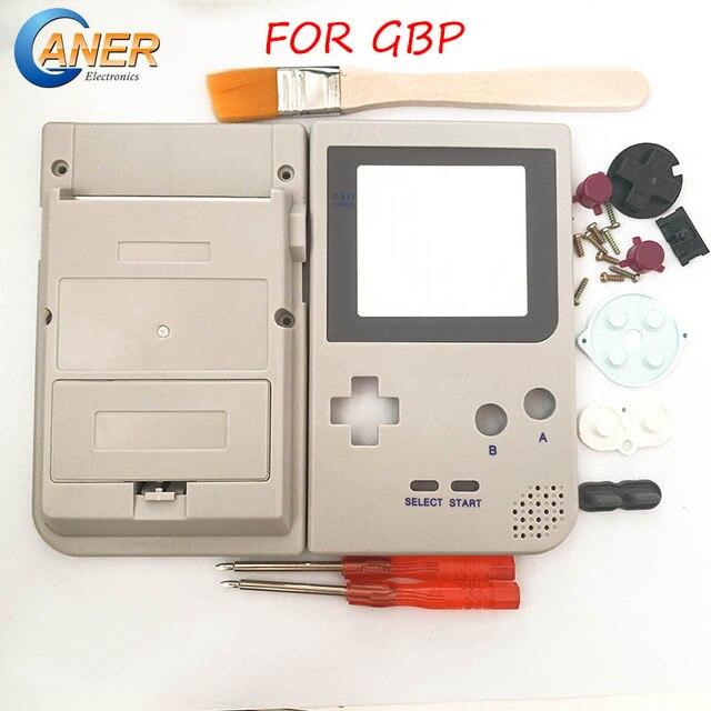Szare etui na cały telefon obudowa na konsolę Gameboy Pocket na GBP szara obudowa Case przyciski podkładki gumowe śrubokręt