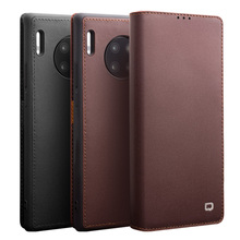 QIALINO Luxury Retro Wallet Case For Huawei Mate 30 Pro Genuine sheepskin Leather Flip Cover For Huawei Mate 30 Case Back Cover