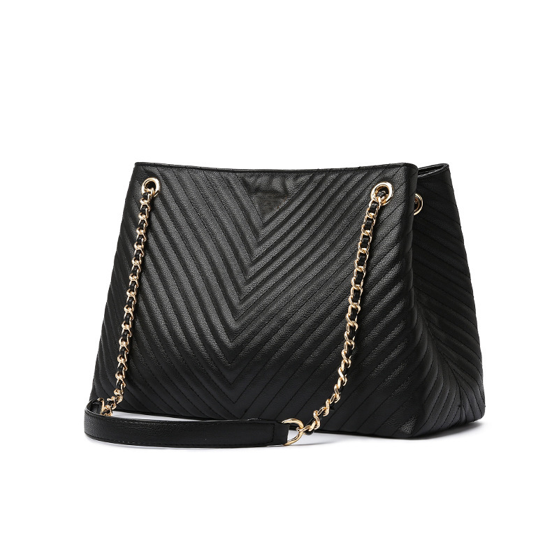 Luxury Brand Handbag 2019 Fashion New High Quality PU Leather Women's Handbag Large Tote Bag Lock Chain Shoulder Messenger Bags