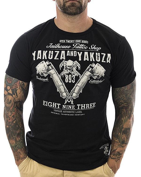 Yakuza   Shirt   Tattoo Shop 10009 Schwarz Neu M ? Nner   T     Shirt   New Brand Clothing   T     Shirts