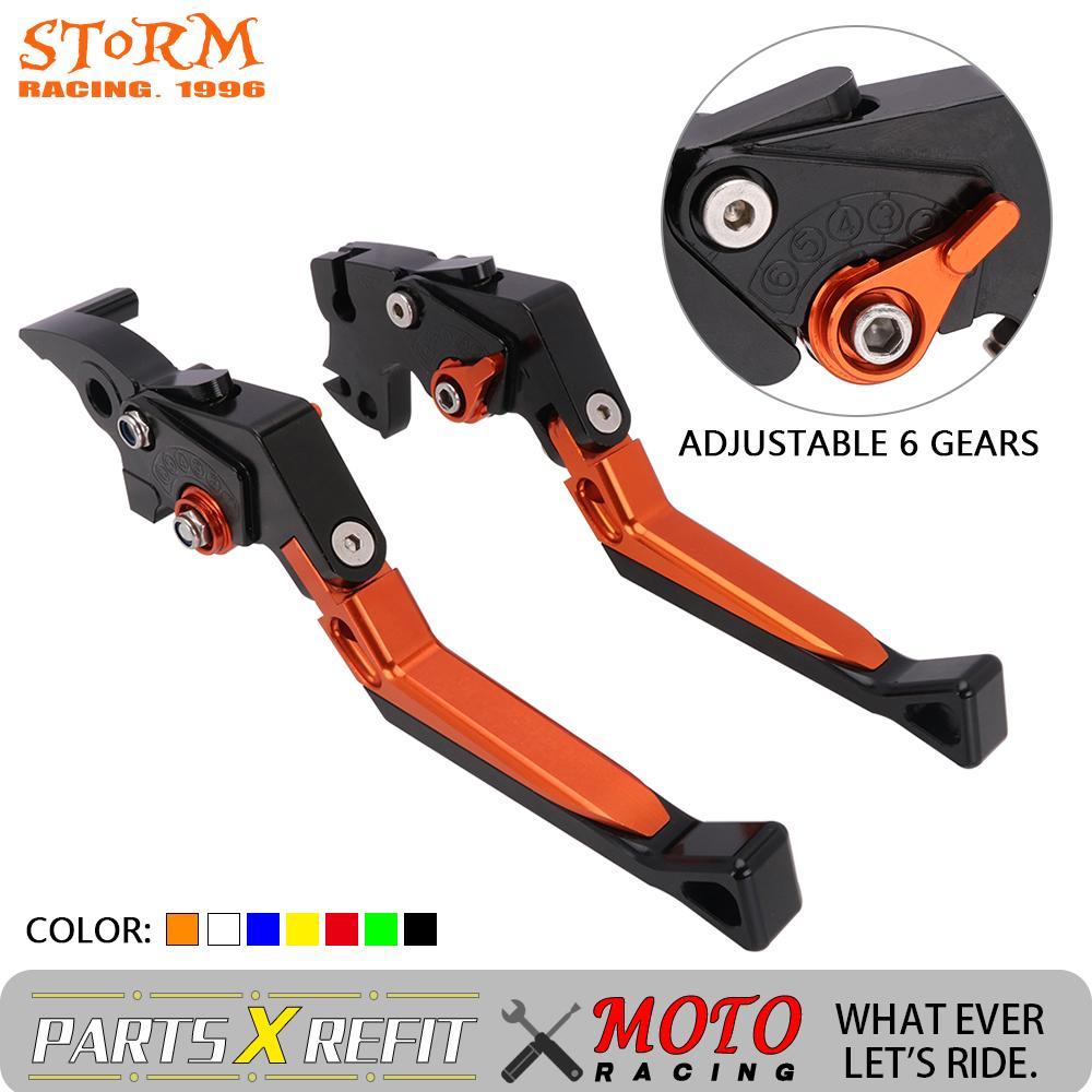 KTM 1290 Super Duke R 2014-2019 Short Adjustable Brake Clutch CNC Levers Orange