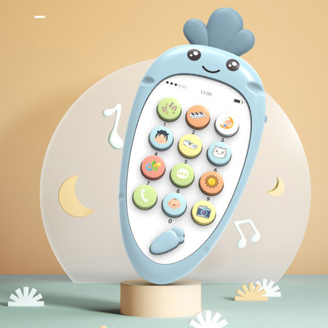 Electronic Toy Cartoon Phone Kid Mobile Phone Cellphone Telephone Educational Learning Toys Music Baby Infant Teether Phone