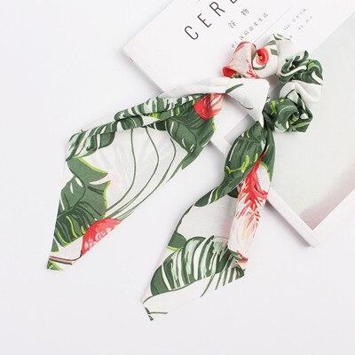 Модный летний шарф «конский хвост», эластичная лента для волос для женщин, бантики для волос, резинки для волос, резинки для волос с цветочным принтом, ленты для волос - Цвет: S3