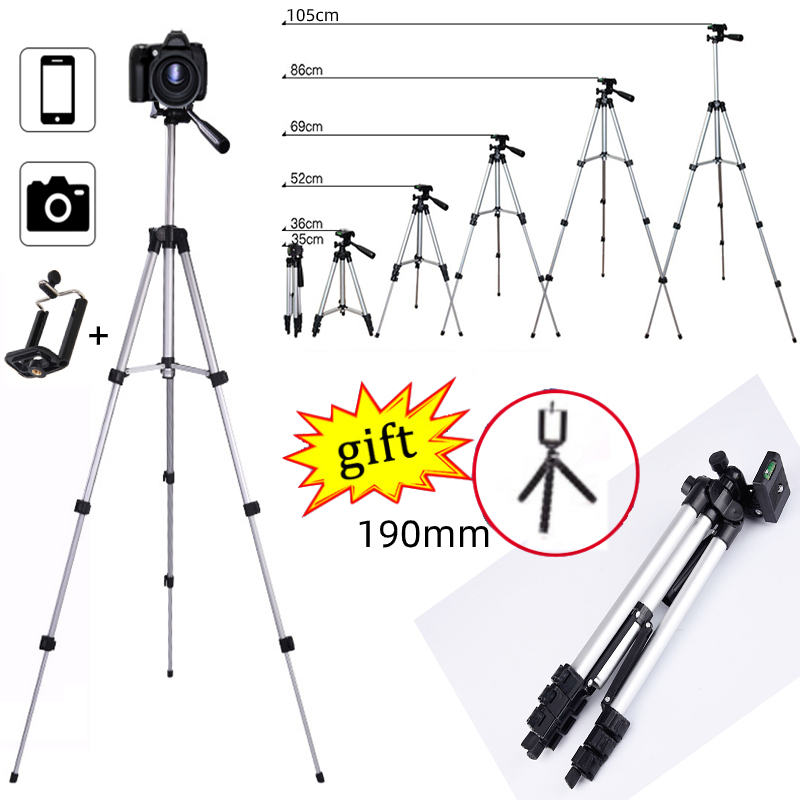 Extendable Mobile Smart Phone Digital Camera Tripod Stand Mount Holder Clip Set For Nikon Canon for iPhone Xiaomi Gopro Samsung