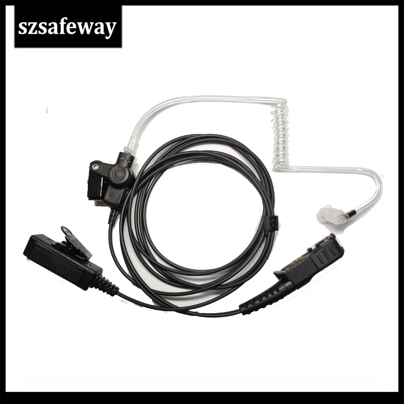 Walkie Talkie Acoustic Tube Earpiece Surveillance Kit Headset For Motorola DP2400 DP2600 XPR3300 XPR3500 XIR P6620 XIR P6600