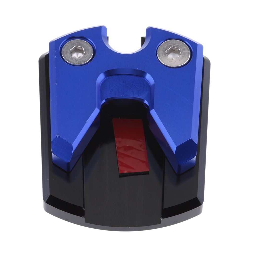 MagiDeal Motorcycle Dirtbike Kickstand Plate Pad Non-Slip Side Stand Universal Red