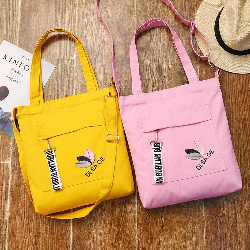 2018 новые корейские парусиновые сумки для девочек с вышивкой, модные сумки Baitao на одно плечо, ручная парусиновая сумка для покупок