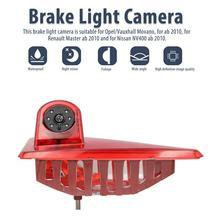 Car Reverse Backup Rear View Camera For Renault Master Nissan NV400 Opel Movano Brake Light parking Reversing Camera Water Proof