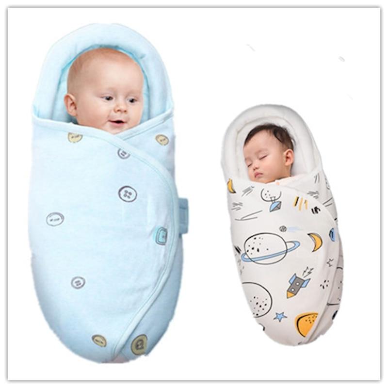 Newborn Baby Cotton Blanket Photo Monthly Swaddle Dinosaur Toddler Boy Sleeping Bags Girl Sleep Sack Little Baby Stroller Wrap