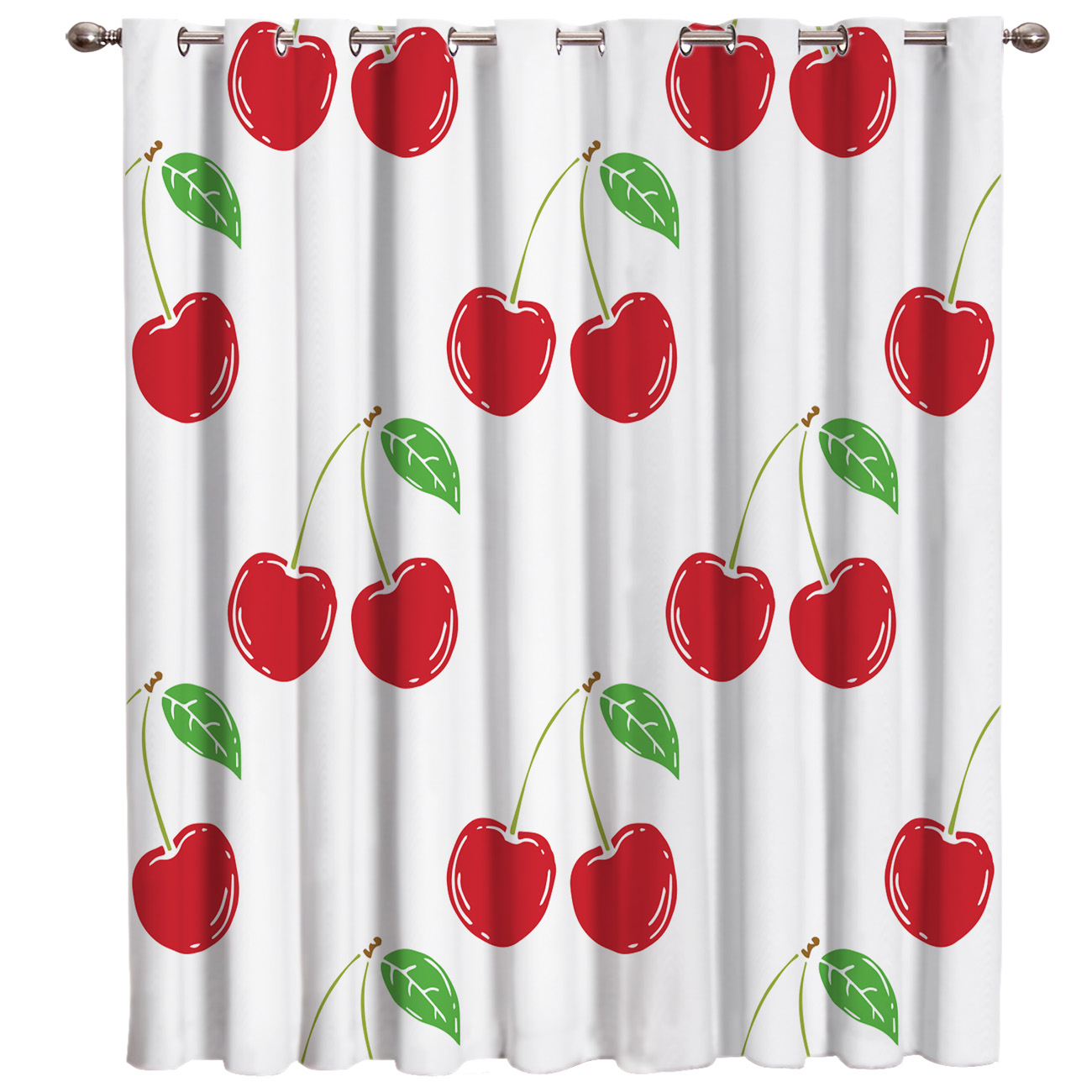 Cherry Room Curtains Large Window Bedroom Kitchen Fabric Indoor Decor Swag Window Treatment Ideas Window Curtain Panels Window