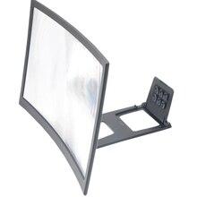 Dla 12 cal 3D krzywa lupa do ekranu do telefonu komórkowego, wzmacniacz HD żarówka jak powiększające ekran z dławikiem kablowym do filmy, filmy, i Fo