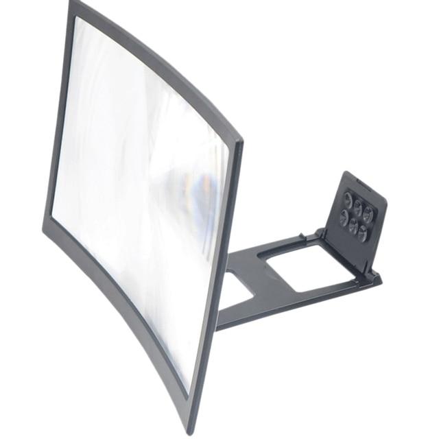 Voor 12Inch 3D Curve Screen Magnifier Voor Mobiele Telefoon, Hd Versterker Projector Magnifing Screen Vergroter Voor Films, video S, En Fo