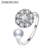 Женское кольцо с натуральным пресноводным жемчугом zhboruini