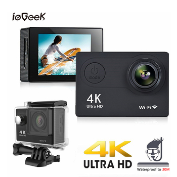 Action Camera Ultra HD 4K 1080P Sports Camera 170D Underwater Waterproof Outdoor WiFi Remote Control Video Camcorder Sports Cam 2inch tps lcp 4k ultra hd video camera fhd 1080p sports dv uhd action wifi camcorder anti shake cam wide angle go deportiva pro