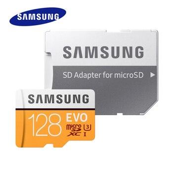 SAMSUNG EVO New Grade 3 Micro SD 128GB SDXC Class10 U3 4k Ultra HD High Speed TF Memory Card Microsd Flash Cards Up to 100MB/s