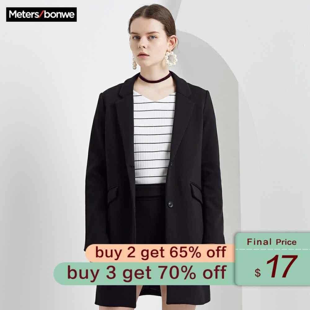 Metersbonwe di marca cappotto delle donne allentato casuale del cappotto dolce andare con uno studente colletto del vestito del cappotto