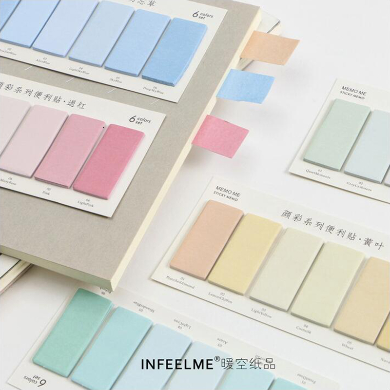 Gradient Color Series Memo Pads Post Sticker Scrapbook Diary Planner Sticky Notes Office Stationery School Supplies 120Sheets