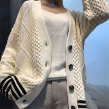 New Cashmere Sweater Women V-neck Cardigan 2019 Spring Loose Wool Knitted Tide V-Neck Cardigans Clothes