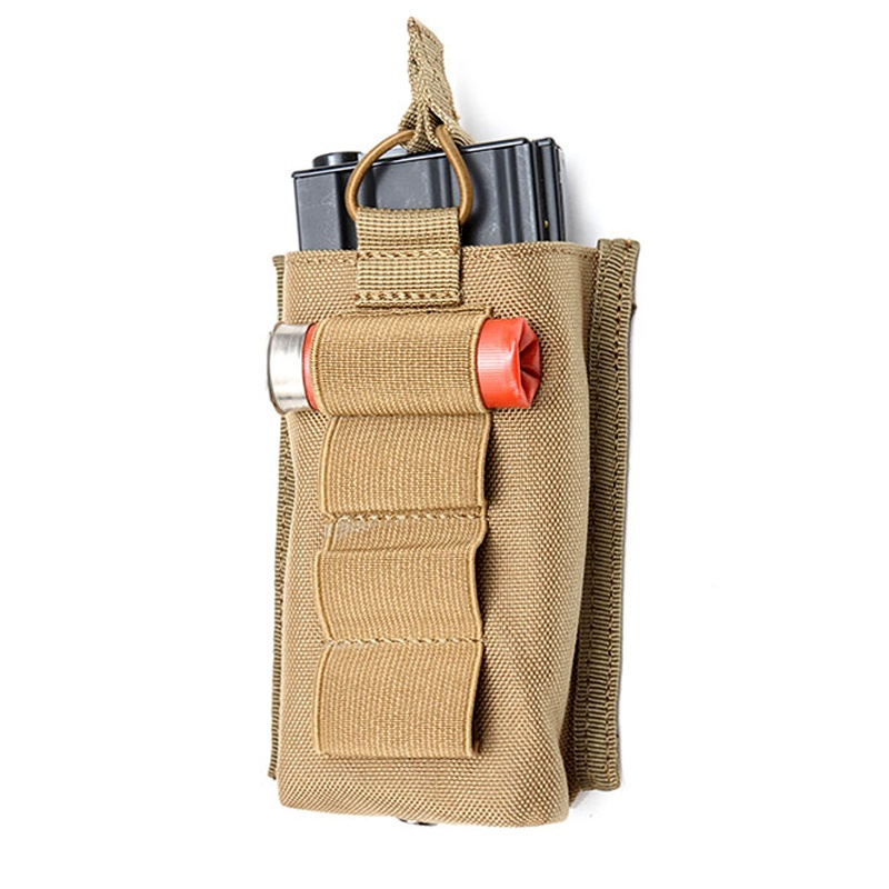 Airsoft M4 M16 Tactical Molle Single Magazine Pouch 12GA 12 Gauge Shell Ammo Carrier Holder Hunting Military AK AR Rifle Mag Bag