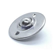 Full Stainless Steel disc 2 Holes Round Flange Ball Roller Caster Wheel Furniture Desk Cabinet DIY Ahcell Castor Transfer Unit