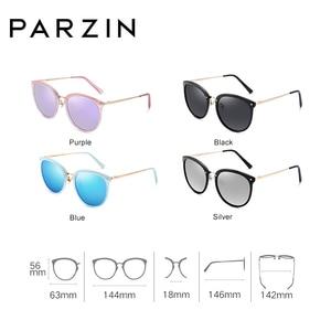 Image 2 - PARZIN Vintage Feminine Sun Glasses Polarized For Driving TR90 Oversized Sunglasses For Women Plastic Titanium