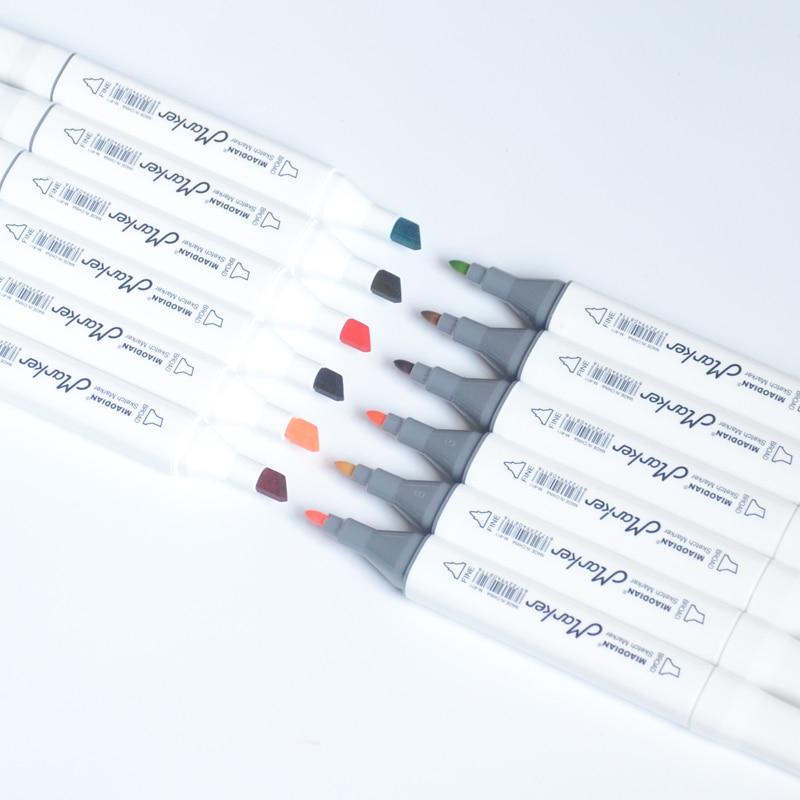 marcador canetas para desenhar cabeca dupla feltro ponta 03