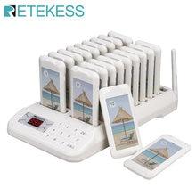 Retekess – système d'appel sans fil TD172 avec 20 téléavertisseurs de Restaurant, pour Restaurant, église, crèche, clinique
