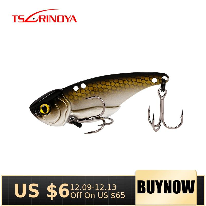 TSURINOYA ARES-A 5g/7g/10g/15g Metal VIB Fishing Lure Bait Artificial Bait With Treble hook double hole low Center of gravity