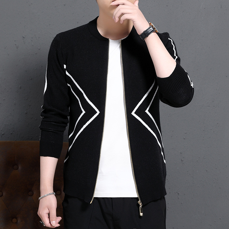 Men Sweaters 2019 Spring and Autumn New Sweaters Trend Casual Knitted Cardigan Men's Sweater Jacket