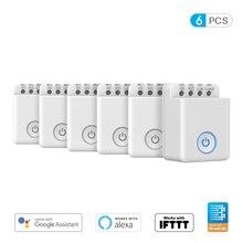 Broadlink bestcon mcb1 interruptor wifi, sem fio, automação para casa inteligente, 1/2/3/4/5/6 peças controlador do módulo de relé para google home