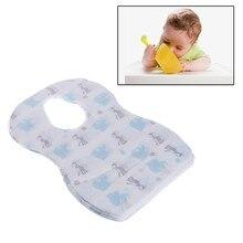 20 pçs pçs/lote babadores descartáveis estéreis crianças bebê à prova dwaterproof água comer babadores com bolso