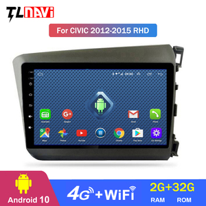 4G LTE 2G RAM 9 inch android 10 car multimedia gps navigation system for RHD Honda-civic 2012-2015 right hand drive
