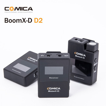 COMICA Boomx D2 2,4G Digitale Drahtlose Mikrofon System mit Dual sender Mini Revers Mic Clip-on Mikrofon BoomX-D